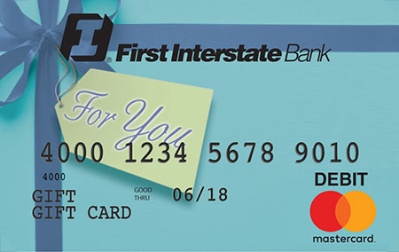 First Interstate Bank Gift Card